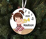DONL9BAUER Funny Girl Playing The Trumpet Ornament Souvenir - Custom Made to Order - 2020