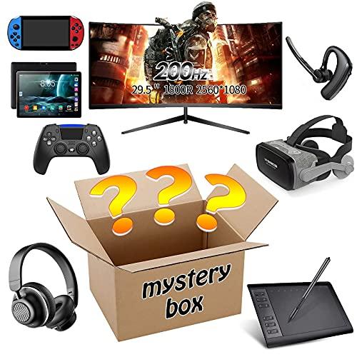 yamysalad Scatola cieca Mystery Box, Mystery Box Electronics, Scatole Mystery Casuale, Casella di sorpresa di compleanno, scatola di novità per adulti Regalo di sorpresa, come tablet PC, occhiali, aur