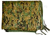 Military Outdoor Clothing Previously Issued USMC Marpat Poncho Liner with Zipper