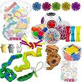 MSHOLY Sensory Fidget Toys - Juguetes antiestrés para concentrarse y calmarse - Fidget Pack Toy and Party Favor Set + Storage Bucket - Fidget Spinner, Stress Ball, Infinity Cube