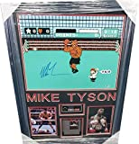 Mike Tyson Hand Signed Autographed Punch Out Photo W/Game + controller Framed