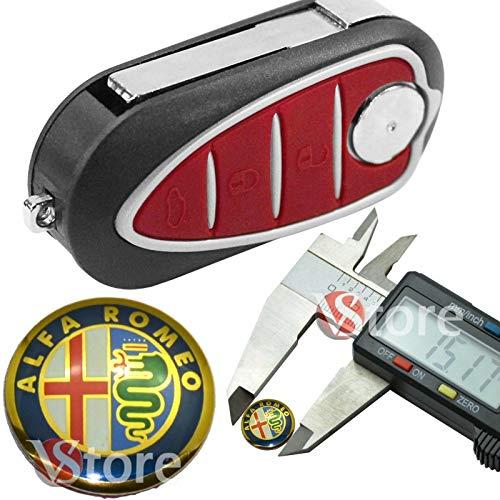 2 pezzi LOGO CHIAVE TELECOMANDO ALFA ROMEO 15mm FREGIO STEMMA 147 156 159 METALLO ORO GOLD