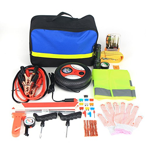 GOZAR Straßen-Notfall-Kit Portable Auto Set Auto Tool Bag Piece Fahrzeugsicherheit