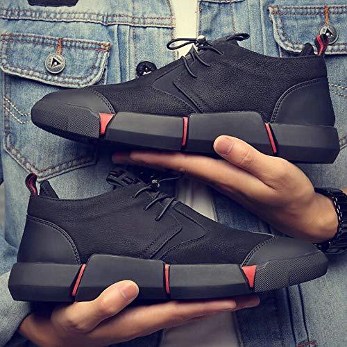 LLZGPZYDX sportschoenen, grote maat, 46 merk, hoogwaardig, voor alle mannen, zwart, leer, casual, modieus, sneakers