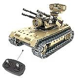 FunTomia QIHUI 2in1 Panzer / Kampf-Roboter - Ferngesteuertes Steckbaustein Technik - 457 Klemmbausteine - NO. 8012