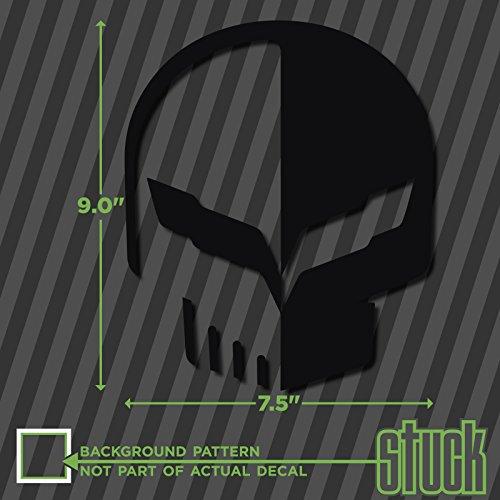 Jake Skull Z06 - 7.5'x9.0' - vinyl decal sticker vette corvette z07 c5 c6 c7