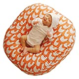 ROTOTO bebe Baby Lounger Pillow Newborn Cushion Nest (Orange Duck)
