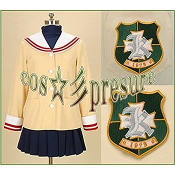 1879 【cos-presure】CLANNAD クラナド 光坂高校女子制服冬服1年 風☆彡コスプレ衣装