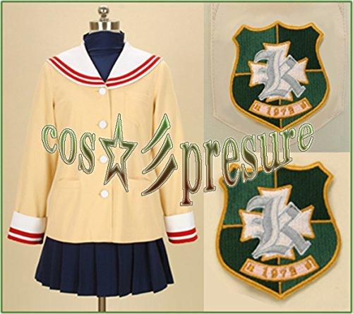 『1879 【cos-presure】CLANNAD クラナド 光坂高校女子制服冬服3年 風☆彡コスプレ衣装』の1枚目の画像