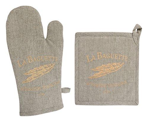 Soleil d'ocre Handschuh und Topflappen Bedruckt Baumwolle Baguette