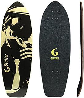 Glutier Surfskate Deck Mafia Gansta White 31 Skate...