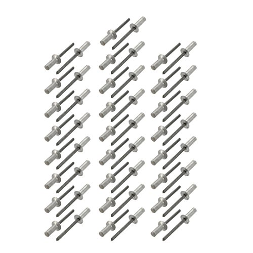 sourcingmap Blindnieten, 5 mm x 15 mm, Aluminium, Senkkopf, geschlossenes Ende, 50 Stück