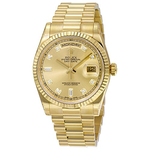 Rolex Men\u0027s 118238 Day,Date Analog Automatic 18kt Yellow Gold Watch