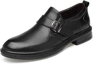 CAIFENG Business Hommes Oxford Casual Classique Toughle Toughle Boucle Décoration Faux Feuex Inside Slip sur Loisirs Big T...
