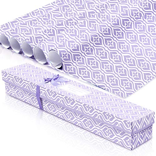 LA BELLEFÉE Scented Drawer Liners, Fresh Scent Paper Liners for Drawers, Cabinet, Dresser Shelf, Linen Closet,Better for Kitchen, Bathroom, Vanity (6 Sheets) (Lavender)