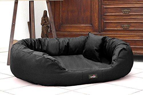 tierlando Lit pour Chien Ares Confort de Robuste Polyester Canapé pour Chien XL XL + XXL XXXL 110 125 140 170 cm 11 Farben - 03 Noir, A15  125 x 90 cm
