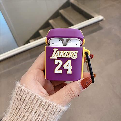 Caja de auriculares 3D con diseño de dibujos animados de baloncesto para auriculares Apple Airpods 1 2, funda de silicona para auriculares de Apple (color: modelo 3)