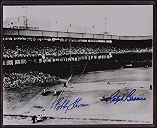 bobby thomson ralph branca autographed picture