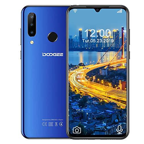 DOOGEE N20 (2020) 4G Smartphones Ohne Vertrag Günstig, Android 9.0 Smartphone 6,3 Zoll FHD+ Bildschirm, Octa-Kern 4GB RAM+64GB ROM 16MP+8MP+16MP Kameras 4350mAh Dual SIM Blau
