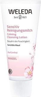 WELEDA Mandel Wohltuende Reinigungsmilch, sanfte porentiefe Naturkosmetik Reinigung für sensible Haut im Gesicht, geeignet für Neurodermitiker und schonende Entfernung von Make-up 1 x 75 ml
