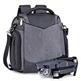 ESTARER Borsa a tracolla 3 in 1 per DJI Mavic 2 Pro/Zoom, Mavic Air/Mini grigio. s