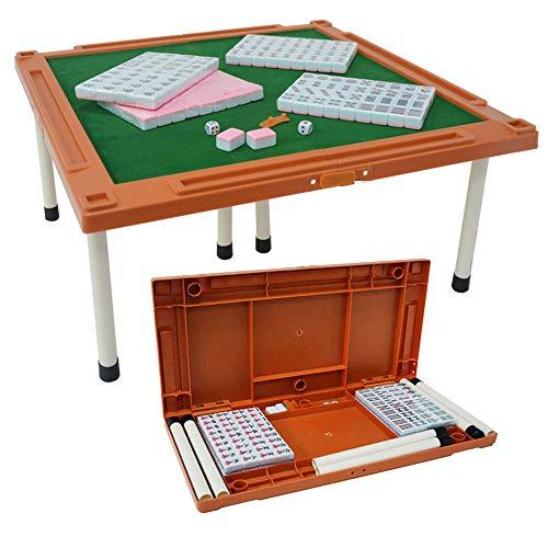 ALTINOVO Outdoor Travel Chinesisches Mahjong Spielset, 144 Kacheln Mit Mahjong Tisch (Mah Jong, Mahjongg, Mah Jongg),Pink