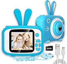 Nurfens Kids Digital Camera, Kids Video Camera Recorder Shockproof Cameras HD 8 Mega Pixel 2 Inch IPS Screen Kids Mini Camera with 32GB SD for Girls Boys Gifts(Blue)