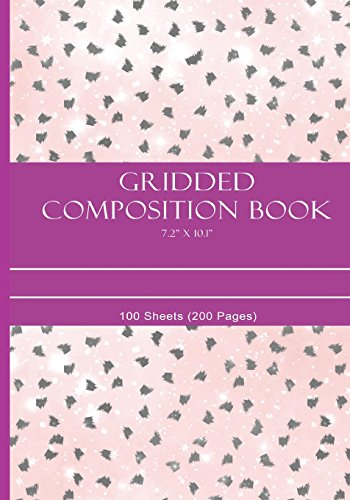 """Griddes Composition Notebook 7.2"""" x 10.1"""": 100 Sheets (200 Pages)"""