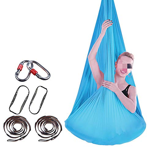 Buy Discount Dertyped-dc Aerial Yoga Swing Set Aerial Yoga Hammock Indoor Swing Hammock Anti-Gravity...