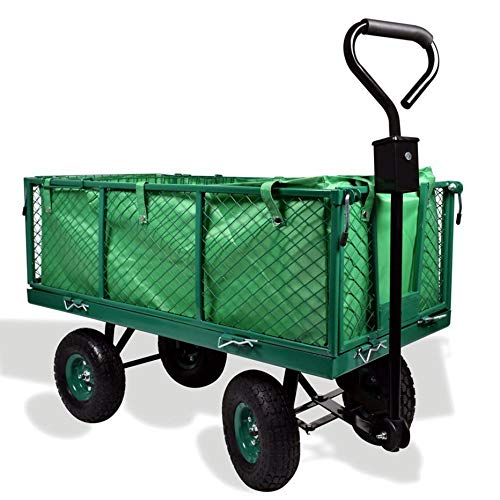 Izzy Bollerwagen Luftreifen Seitenteile Transportwagen Handwagen (Gartenwagen klappbar 300kg Traglast)
