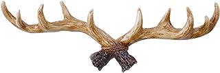 Enerhu Vintage Deer Antlers Wall Hooks Antique Clothes Hanger Rack Coat Hooks for Home