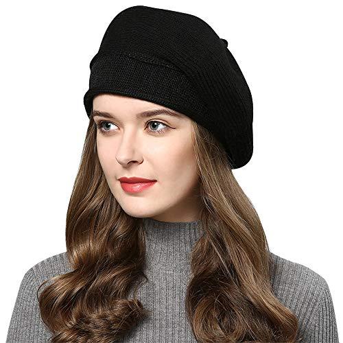 Superora damski beret czapka francuska wełna beret czapka klasyczna żeberkowa dzianina jednolity kolor jesień zima czapki