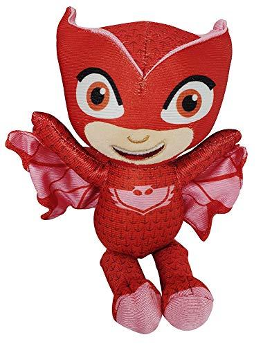 PJ Masks Gekko, Catboy of Owlette Pyjama Heroes Mini Pluche Figuren 22cm om te verzamelen, spelen en knuffelen (Owlette)