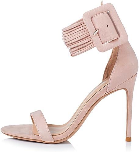 JE schuhe Damen Sandalen Stiletto Heels Schuhe 10cm