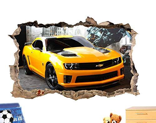 MXLYR Pegatinas de pared Abeja coche 3D pegatinas de pared decoración de la habitación calcomanía mural