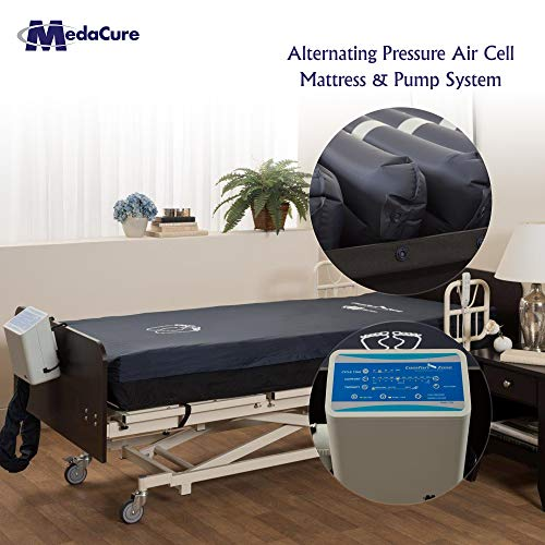 Alternating Pressure Bariatric Mattress for Hospital Beds with Pump - Low Air Loss, Quilted Nylon...