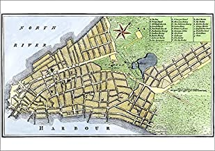 Media Storehouse A1 Poster of New York City map, 1767 (5882531)