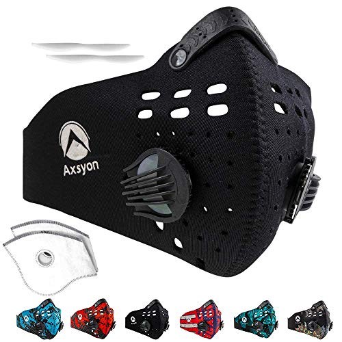 Axsyon Dust Mask- Face Breathing Respiratory Mask - Suitable for Woodworking, Outdoor Activities - 2 Filters & 2 Valves Included