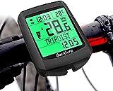 BACKTURE Compteur de vélo, 5 Langues Compteur Kilometrique de Vélo, Multifonction Ordinateur de Vélo Étanche Affichage LCD Numérique Ordinateur de vélo sans Fil pour Realtime Speed Track et Distance
