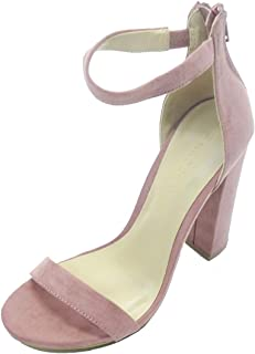 8045fc451db Wild Diva Womens Open Toe High Chunky Heel Ankle Strap Platform Sandal  Pumps Shoes