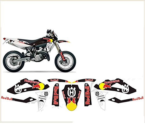 Emanuel & Co Kit adesivi Decal stikers Husqvarna TC TE SMS SMR 125 Toro 2010 2013 (Ability to Customize The Colors)