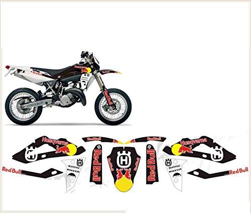 Kit adesivi decal stikers HUSQVARNA TC TE SMS SMR 125 TORO 2010 2013 (ability to customize the colors)