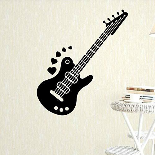 Creativo Instrumento de Diseño de Pared Pegatinas Arte Autoadhesivo Estilo de Guitarra Extraíble Pegatinas de Pared Decoración Para El Hogar Sala de estar 43x110 cm
