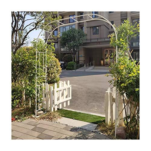 HLMBQ Arcos de jardín ligeros y cenadores, arco grande de acero enrejado para plantas de escalada al aire libre decoración de festivales 120 x 240 cm, 240 x 240 cm, negro