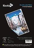 KOALA Papel fotográfico láser mate de doble cara, A4, 120 g/m², 100 hojas,...