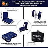 Friends of Meditation Extra Large Relaxing Buddha Meditation and Yoga Chair with backsupport and...
