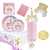 Unicorn Party Supplies Decorations Set for Girls Children Birthday Party,including Unicorn Party Cake...