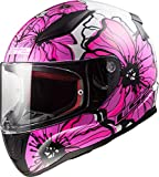 LS2, Casco integral de moto Rapid, poppies, XS