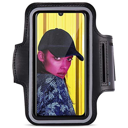 Nauci Jogging Étui Compatible pour Huawei P Smart 2019 Téléphone Portable Sport LAN Bracelet Sac de Fitness