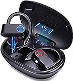 Cuffie Bluetooth Sport, Auricolari Bluetooth 5.0 Senza Fili con Bassi Potenziati, Auricolari Wireless In Ear...